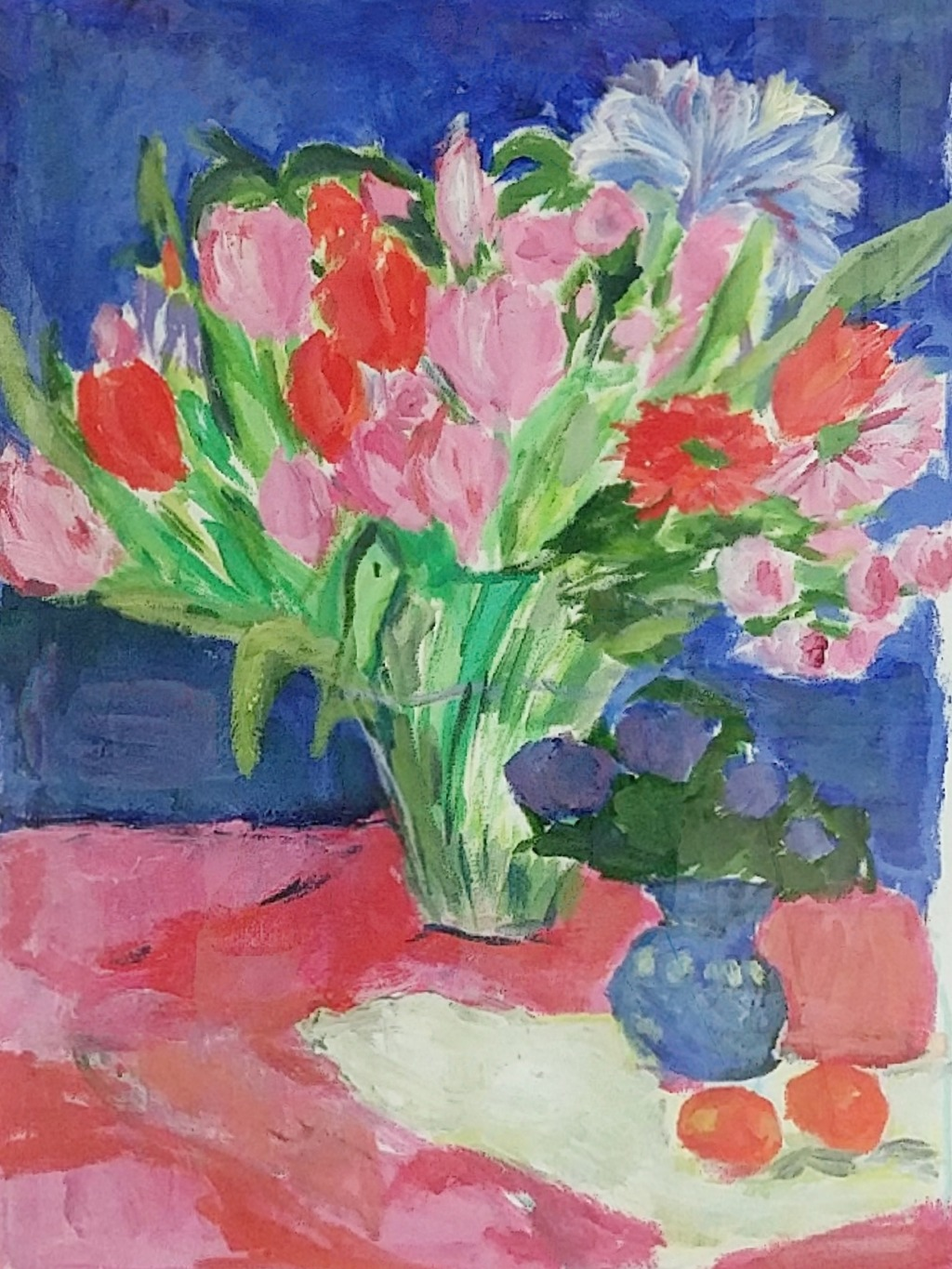 19. Red and blue flowers