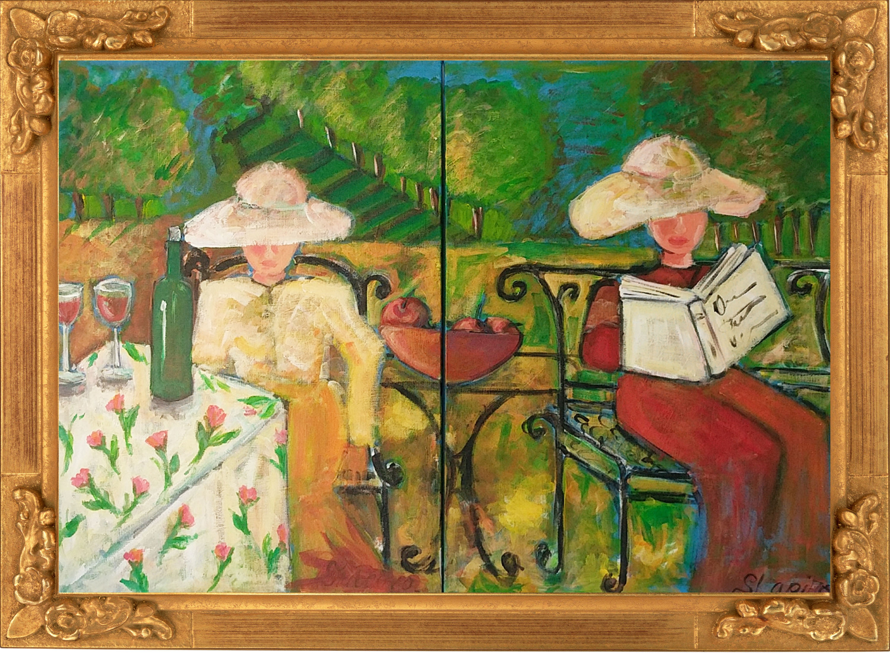 1a. Two ladies in the park