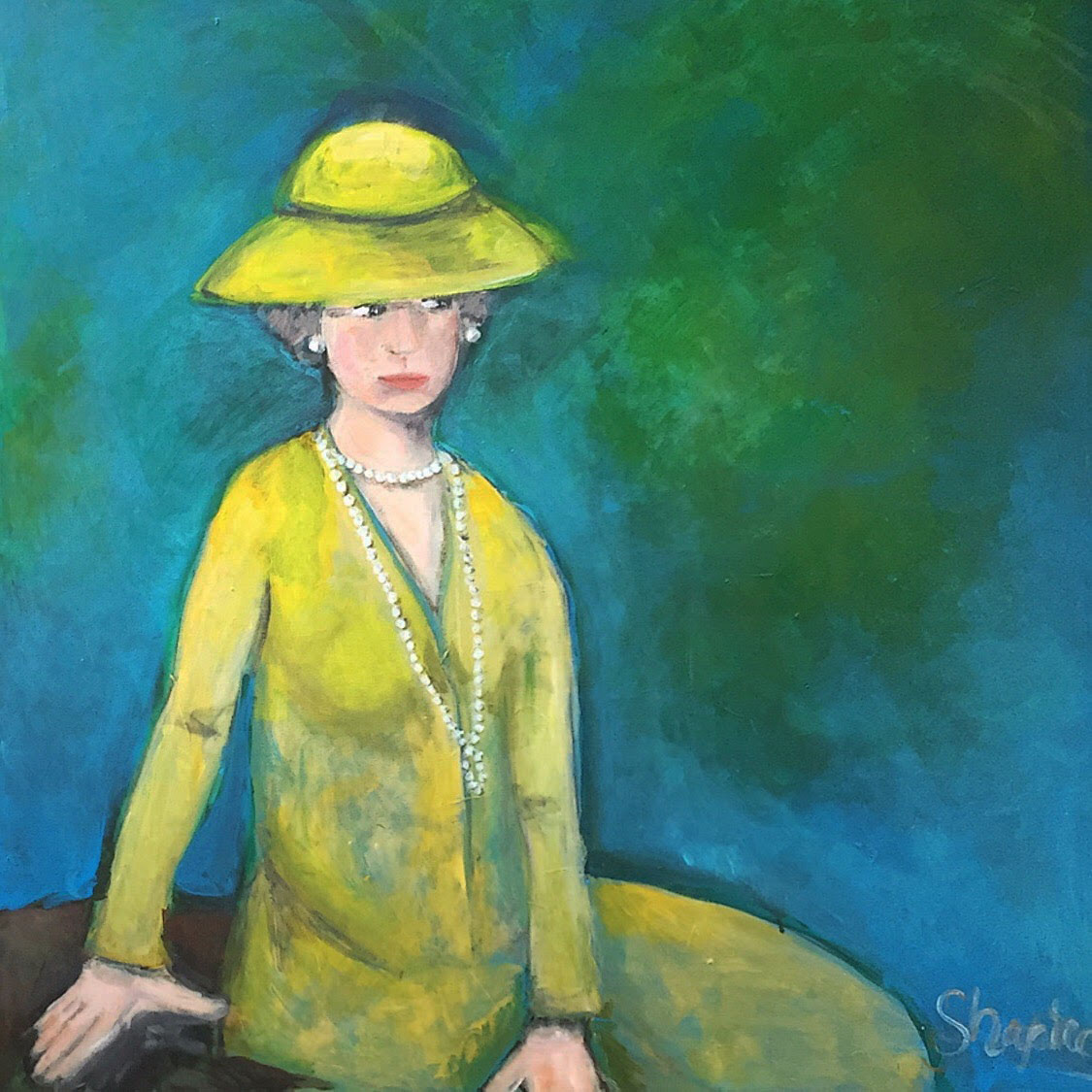 26a. lady with a yellow hat