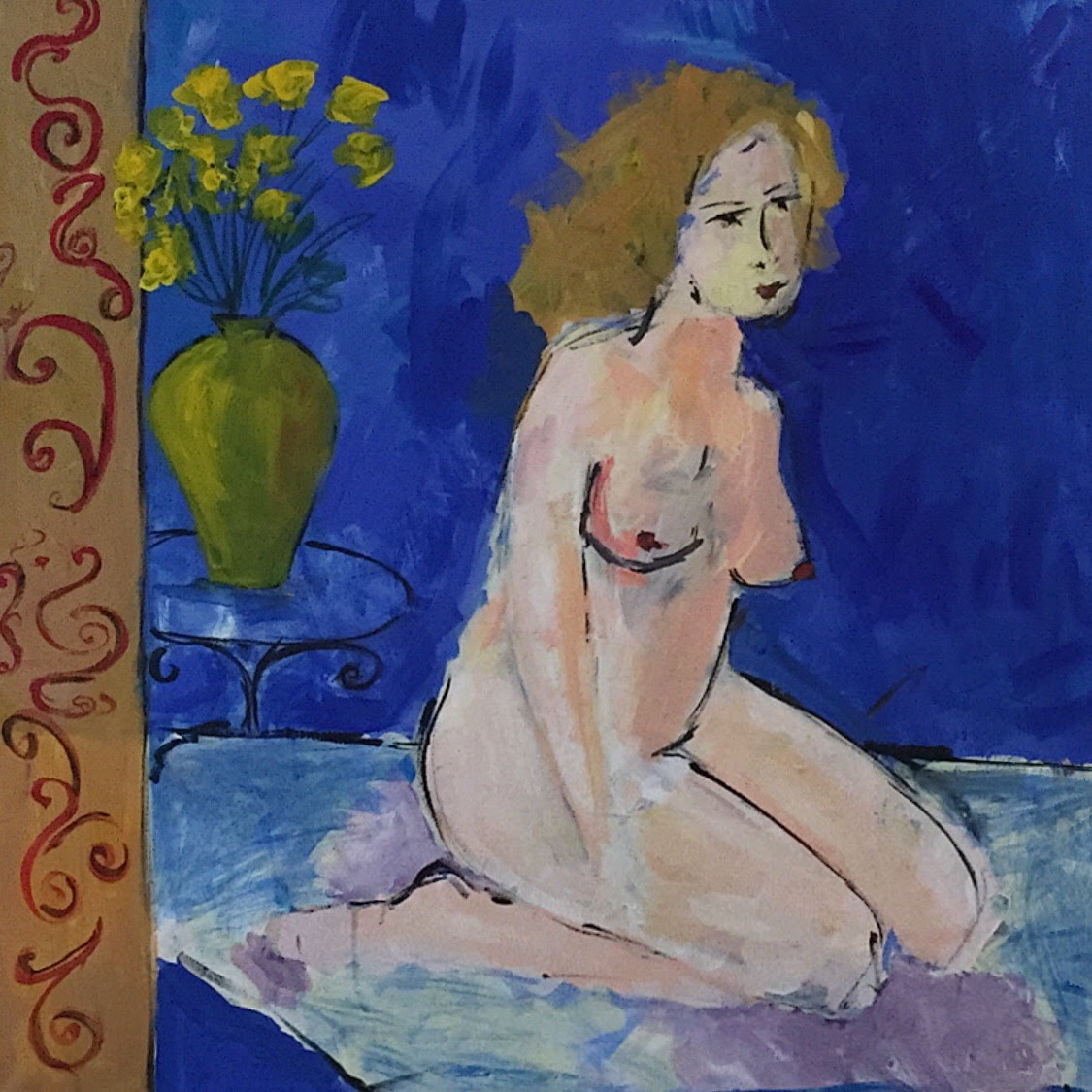 29. Nude with flowers