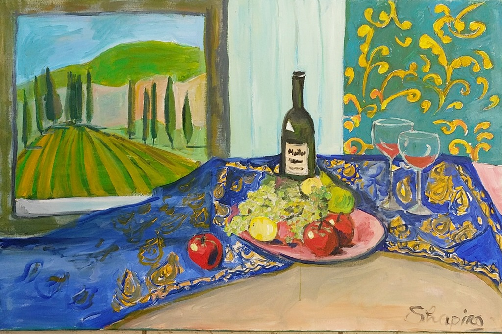9. Apples with wine